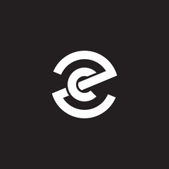 Initial lowercase letter logo zc, cz, c inside z, monogram rounded shape, white color on black background