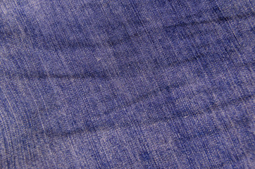 Texture of a blue jeans.  Fabric background