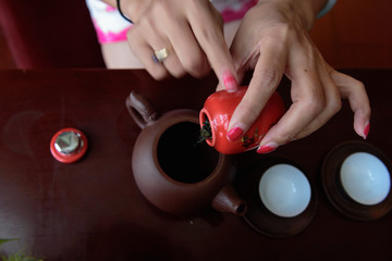 Tea preparation work.