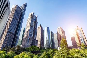 Landmark buildings in Shanghai, China