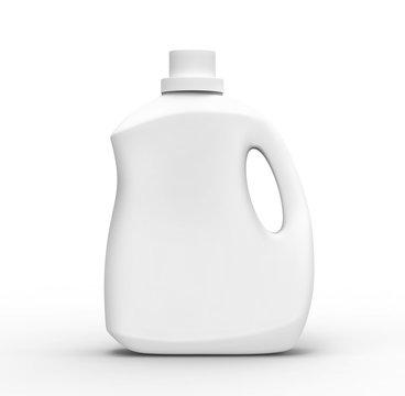 Blank laundry detergent bottle
