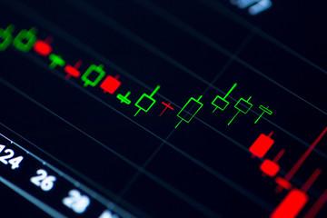 Stock Exchange Chart on Smart Phone