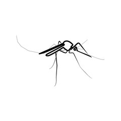 Mosquito black color icon .