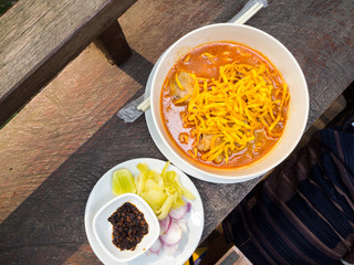 Khao Soi Recipe, Curried Noodle Soup with Chicken.