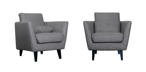 Grey Armchair in two angles