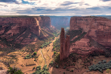 Deurstickers Canyon Spider Rock in Canyon de Chelly, Arizona.
