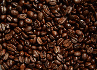 Fotobehang koffiebar Coffee beans close-up