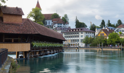 Floodgate-bridge in Thun. Switzerland