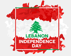 Lebanon independence day abstract background design coupon banner and flyer, postcard, celebration vector illustration