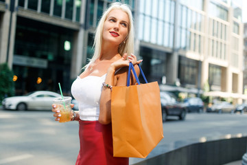 Image of woman with packages