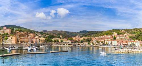 Wall mural View of Rio Marina village and harbour, Elba islands, Tuscany, Italy