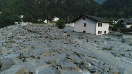 Still image taken from video shows the remote village Bondo in Switzerland