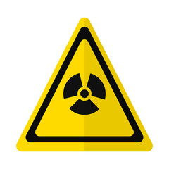 Radiation hazard sign flat icon, vector sign, colorful pictogram isolated on white. Symbol, logo illustration. Flat style design