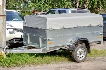 grey trailer car