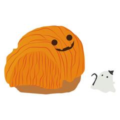 かぼちゃモンブランとオバケ