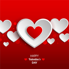 Valentine'S Day. Card with  heart.Vector greeting card with a 	