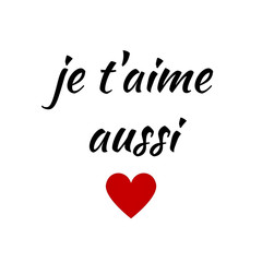 Quote:  Je t'aime aussi French for I love you a thousand times