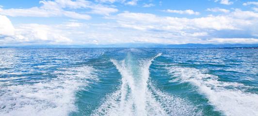 Mit dem Motorboot auf dem Bodensee