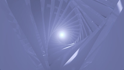 Abstract background with spiral tunnel. 3D rendering