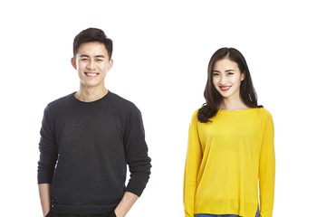 portrait of young asian couple