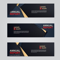 A set of modern vector abstract design banner web template, cover abstract background.