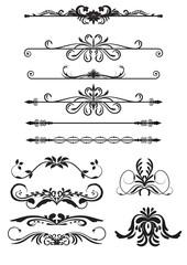 Set Vector Vintage Decorations Elements