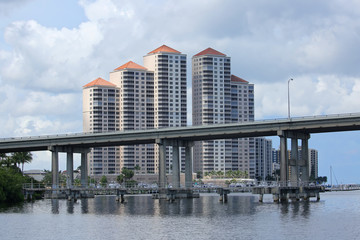 Downtown Fort Myers's River District skyline