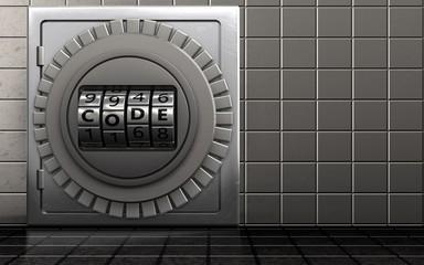 3d code dial metal safe