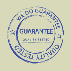 Guarantee stamp. Illustrated vector isolated