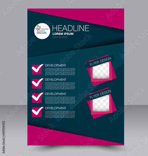 brochure template business flyer annual report cover editable a4