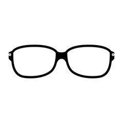 glasses accessory icon over white background vector illustration