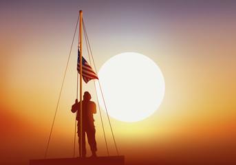 militaire - soldat - américain - drapeau - guerre - symbole - patriote
