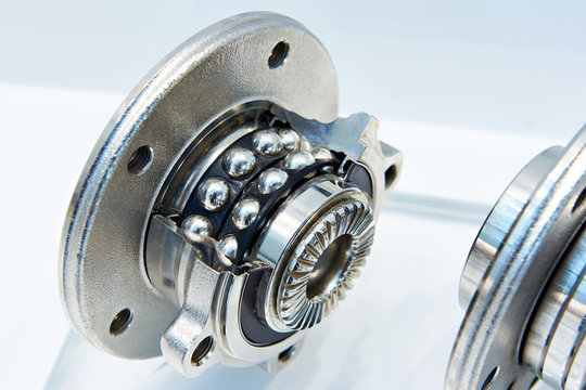 Double row angular contact wheel bearing