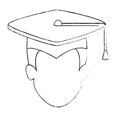 Man cartoon face icon vector illustration graphic design