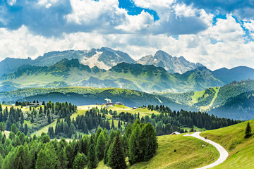 panorama of alto adige region in northern italy on summer