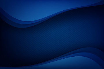 Abstract deep blue background curve and overlap layer with basic simply geometry illustration 004