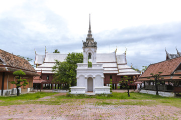 Wat Yai-Suwanaram, Phetchaburi, Thailand. Nature Landscape. Landmark.