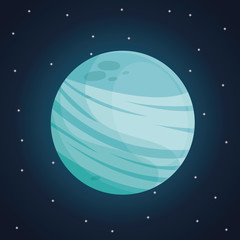 color space landscape background with view uranus planet vector illustration