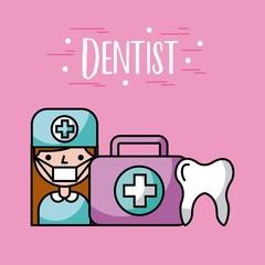 Working dentist profession icon vector illustration design graphic