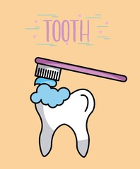 Tooth image cartoon icon vector illustration design graphic