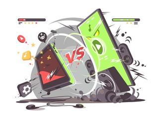 Battle of smartphones vs
