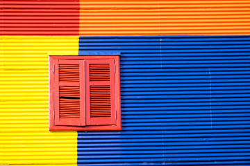 Detail of a colorful house in La Boca, Buenos Aires