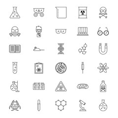 icon set laboratory scientific examinations vector illustration design graphic