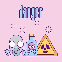 Images scientific laboratory danger icon vector illustration design graphic