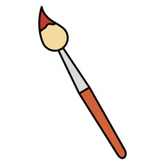 paint brush school supply vector illustration design
