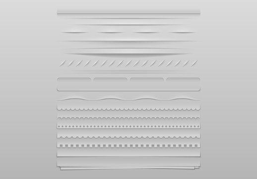 Grayscale Patterned Dividers 2