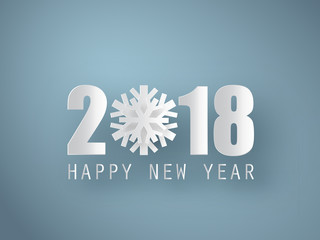 Happy New Year 2018 background. Vector Greeting card.