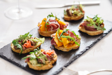 canape on the Christmas table