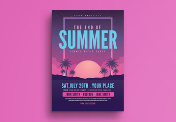 End of Summer Party Flyer Layout