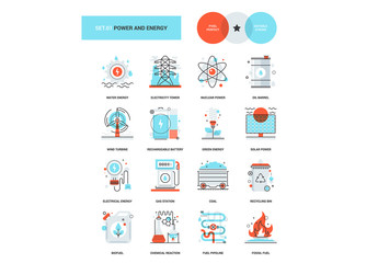 16 Three-Color Power and Energy Icons 1